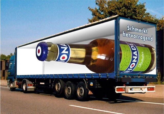 Lorry advertising
